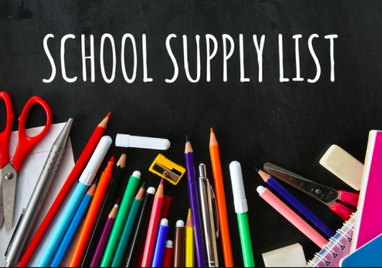 SCPS Standard Elementary School Supply List and Letter for 2019-2020