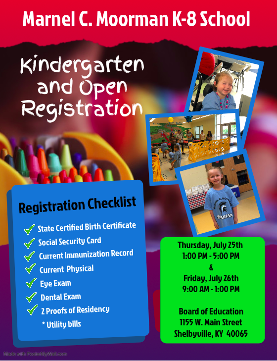 Kindergarten & Open Registration