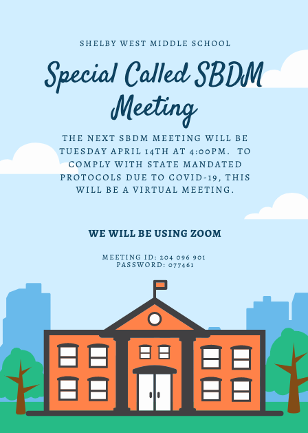 April SBDM Meeting