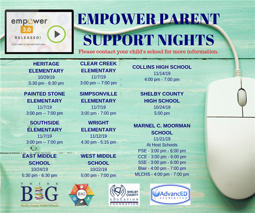 Empower Log In Information: Letters, Video, Parent Support Nights